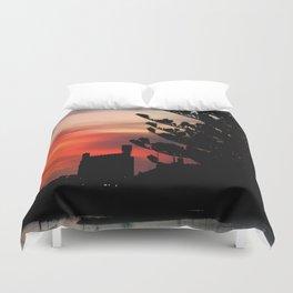 Sunrise at Port of Portland Duvet Cover