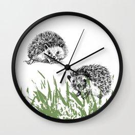 Hedgehogs print Wall Clock