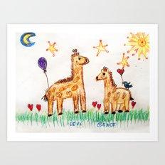 :: Good Friends :: Art Print