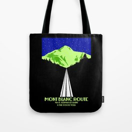 Mont Blanc Alps railway route Tote Bag