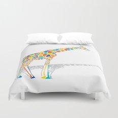 Technicolor Giraffe Duvet Cover