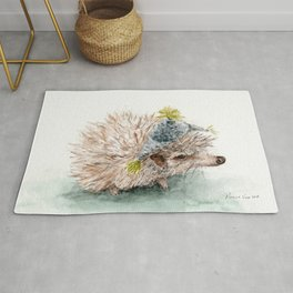 kiwi with a hat Rug