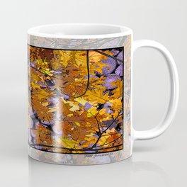 AUTUMN SUNLIT OAK LEAVES OVER MOONLIT FIREWOOD Coffee Mug