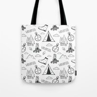 wanderlust Tote Bags featuring Wanderlust by Tracie Andrews