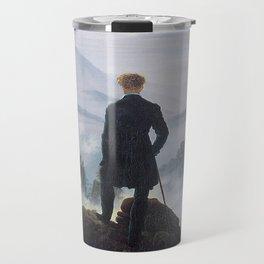 WANDERER ABOVE THE SEA OF FOG - CASPAR DAVID FRIEDRICH Travel Mug