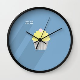 What's Up Cupcake? by Maisie Cross Wall Clock