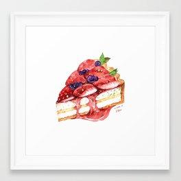 Strawberry Tart Framed Art Print