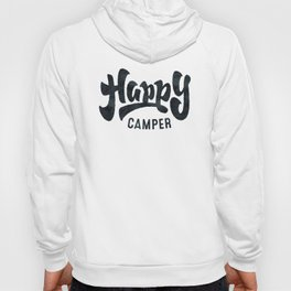 HAPPY CAMPER Black and White Retro Hoody