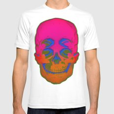 the 4i skull stencil art - 3D SMALL Mens Fitted Tee White