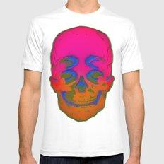 the 4i skull stencil art - 3D White MEDIUM Mens Fitted Tee