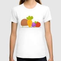 vegetables T-shirts featuring Vegetables by Jane Mathieu