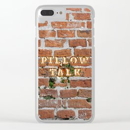 Pillow Talk - Brick Clear iPhone Case