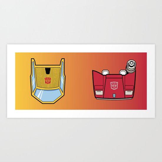 Transformers - Sunstreaker and Sideswipe mug request Art Print