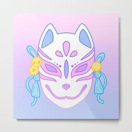 Kitsune Mask (pastel) Metal Print