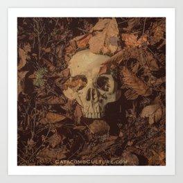 Catacomb Culture - Human Skull Forest Art Print