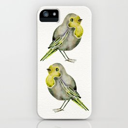 Little Yellow Birds iPhone Case