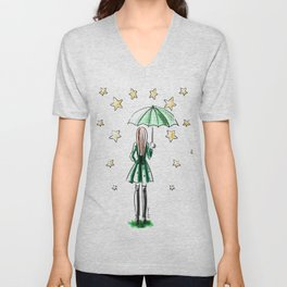 Star Showers Unisex V-Neck