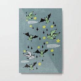 Batty Metal Print