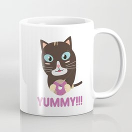 Cat with yummy Donut Coffee Mug