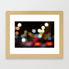 City Light Bokeh Framed Art Print