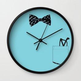 Bow tie and pocket Wall Clock