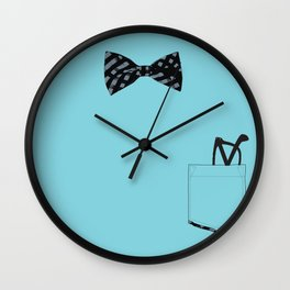 Bow tie and pocket Wall Clock