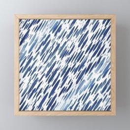 Boho Blue Brushstroke Framed Mini Art Print