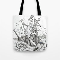kraken Tote Bags featuring Kraken by Incirrina