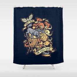 Win or Die Shower Curtain