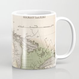 Vintage Map of The Great Lakes (1837) Coffee Mug