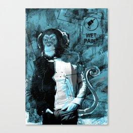 Wet paint. Canvas Print