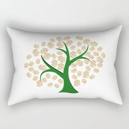 Golden dollars tree Rectangular Pillow
