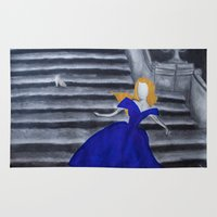cinderella Area & Throw Rugs featuring Cinderella  by Jgarciat