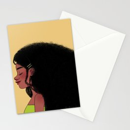 Hair that flows Stationery Cards