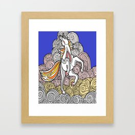 Horse in the Clouds Framed Art Print