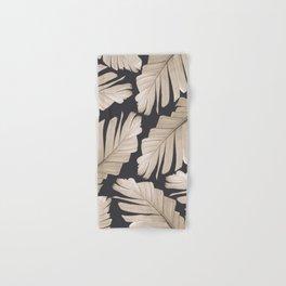 Sepia Banana Leaves Dream #1 #foliage #decor #art #society6 Hand & Bath Towel