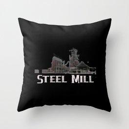 Steel Mill Steel Worker Blast Furnace popsocket Throw Pillow