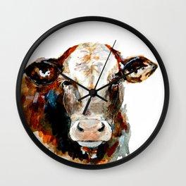Cow watercolor Wall Clock