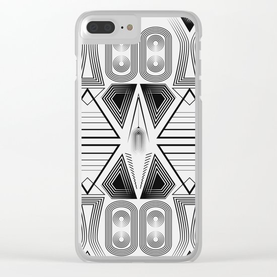"""Art Deco. """"Black and light gray"""" 28 . Clear iPhone Case"""