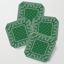 Classic Green Bandana Coaster