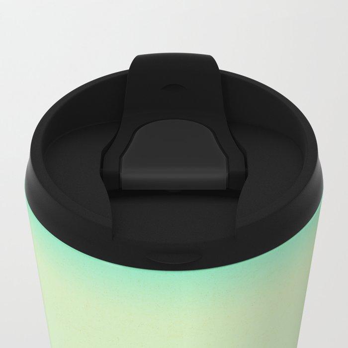 Lake Morning - Green Metal Travel Mug