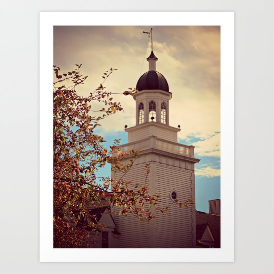 Tower in Autumn Art Print