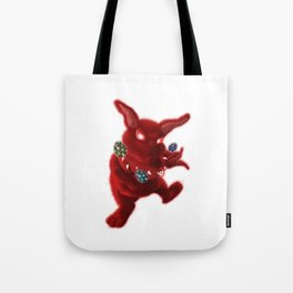 Easter Evil Bunny Tote Bag
