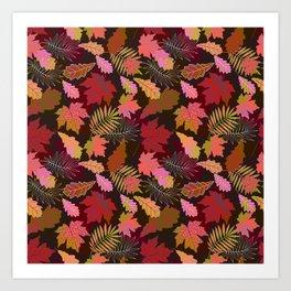 Autumn fall. Art Print