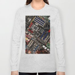 Computer motherboard Long Sleeve T-shirt