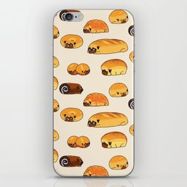 Bread Pugs iPhone Skin