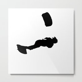 Lets Go Fly A Kite Silhouette Metal Print