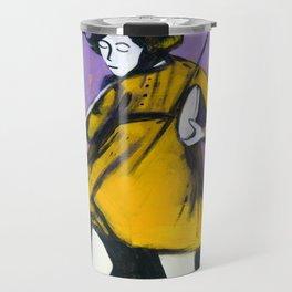 "Miss Morton (2010), 17"" x 27"", acrylic on gesso on chipboard Travel Mug"