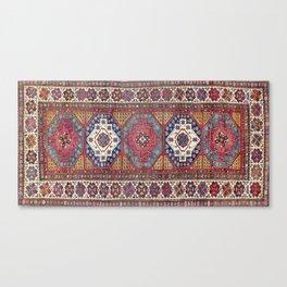 Shahsavan Azerbaijan Antique Tribal Persian Rug Canvas Print