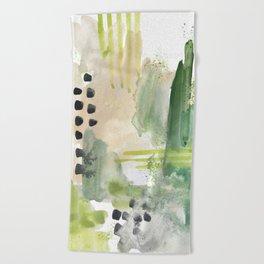 Mossy Design Beach Towel